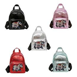 $enCountryForm.capitalKeyWord NZ - 2019 New Shiny Women Mini Backpack Fashion Sequin School Bagpack PU Leather Ladies Cartoon Embroidery Shoulder Hand Bag