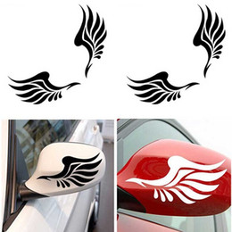 cartoon wings decals stickers Australia - 2PCS Reflective Wing Car Art Rear Stickers Vinyl Rearview Mirror Decals Detor