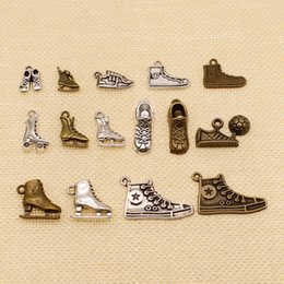 Discount sneaker jewelry 80 Pieces Mix Jewelry Findings Components Soccer And Shoe Sneakers Skates HJ189