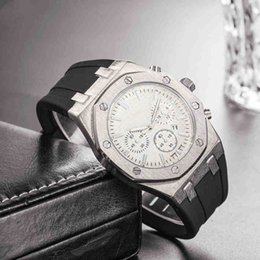 Brand Luxury Style Watch Australia - Classic Style Mens Luxury Watch Rubber Strap Top Brand offshore Quartz Movement AAA Male Gift 45mm Sport Wristwatch mens designer watches
