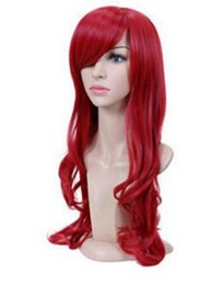 Free Shipping >SEXY LONG WINE RED LADY FASHION LOOSE FULL WIG FANCY DRESS COSPLAY WOMENS