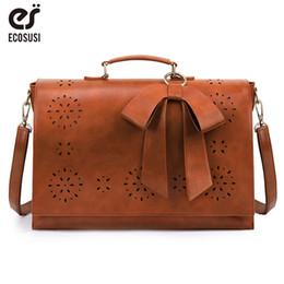 $enCountryForm.capitalKeyWord Australia - houlder Bags ECOSUSI 15.6'' Laptop Messenger Bag PU Leather Large Women Vintage Shoulder Briefcase Retro Handbag Ladies Crossbody Bag L S...