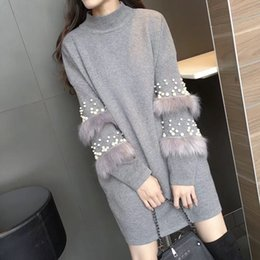 afb2611536b Long Hair Sweater NZ - Winter Sweaters Fashion 2018 Loose Knitted Jumper  Long Sleeve Cony Hair