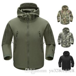 $enCountryForm.capitalKeyWord Australia - 2017 new shark skin stealth men's jacket, soft suede shell, jacket, soft shell, windproof, waterproof, outdoor camouflage, mountaineeri
