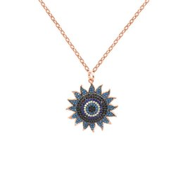 Gold Pendant 18k Sunflower Australia - Luxury Sunflower Pendant Necklaces Designer Wedding Necklace Fashion Womens Sun flower Necklaces Girls Hip Hop Jewelry Lover Gift