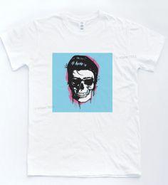 Pop Tees Australia - Elvis Skull Pop T-shirt Legend Music Art Tee Retro King Pop Paint Skeleton Top Men Women Unisex Fashion tshirt Free Shipping black
