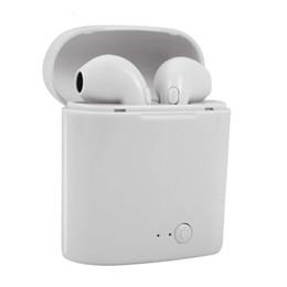 Discount wireless charging phones - i7s Tws Bluetooth Earphones Mini Sport Handsfree Earphone Cordless Headset with Charging Box for xiaomi Phone