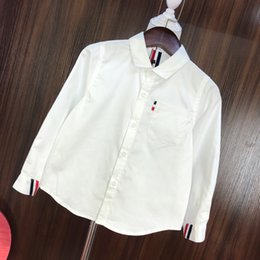 simple shirt blouse Australia - Children shirts kids designer clothing autumn new boys and girls shirt blouse solid color design simple style shirtss