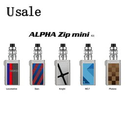 T1 T2 online shopping - VOOPOO Alpha Zip Mini Kit With ml Maat Tank MT T1 MT T2 Coil Built In mAh Battery W Middle Triple Holes Adjustable Original