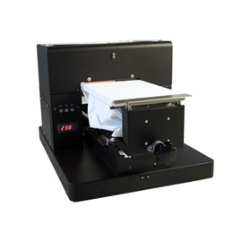 Usb t shirt online shopping - Economic A4 Size DTG T Shirt Printer Directly to Print light and Dark Color garment Flatbed Printer machine
