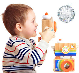 kaleidoscopes for children 2020 - Wooden Mini Camera Kaleidoscope kids toys Children Kids Room Hanging Decoration Toy for Boys Girls christmas gifts