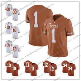 Breathable Football Jerseys NZ - Custom NCAA Texas Longhorns 11 Sam Ehlinger 10 Vince Young 34 Ricky Williams 12 Colt McCoy 9 Collin Johnson 3 Hicks College Football Jerseys
