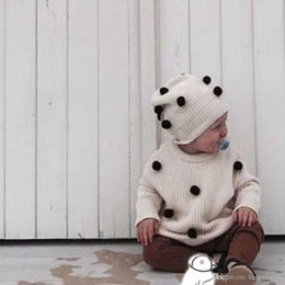 $enCountryForm.capitalKeyWord Australia - Baby Cap Kid Skull Cap Hats Kids Fashion Knitted Caps With Ball Crochet Ear Warmer Hats Children Caps Knitted Beanie Hat