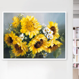$enCountryForm.capitalKeyWord Australia - Flower sunflower flower 5D diamond painting DIY embroidery sun flower mosaic full diamond living room bedroom decoration free shipping gift