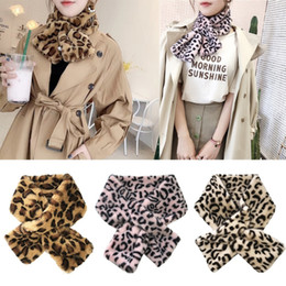 $enCountryForm.capitalKeyWord NZ - 12x80cm Women's Winter Fake Faux Fur Leopard Print Scarf Wrap Collar D19011004