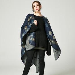 $enCountryForm.capitalKeyWord UK - American and European Style Shawls 2018 Brand New Fashion Lady Scarves & Wraps High Quality Imitation Cashmere Stars Thick Pashmina LSF030