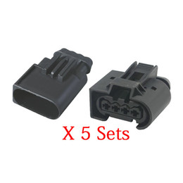 automotive connectors pins UK - 5 Sets 4 Pin Connector Inlet pressure sensor plug-in car connector automotive connector Chery A3 with end plug DJ7048-3.5-11 21