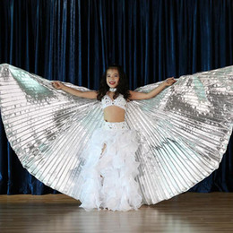 $enCountryForm.capitalKeyWord Australia - Stage Performance Props Dance Accessories Egyptian Wings Belly Dance Isis Costume Wings with Sticks for Children A702