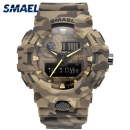 $enCountryForm.capitalKeyWord Australia - New Camouflage Military Watch Smael Brand Sport Watches Led Quartz Clock Men Sport Wristwatch 8001 Mens Army Watch Waterproof Y19052201