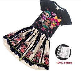 $enCountryForm.capitalKeyWord Australia - Combed cotton! Fashion new girl print doll big boy children's T-shirt + skirt children's two-piece 8380