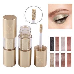 $enCountryForm.capitalKeyWord Australia - MISS ROSE 2019 NEW Metal Eyeshadow Shimmer Warm Color Waterproof Shine Single Eye Shadow Liquid Nude Makeup Shadow Cosmetics