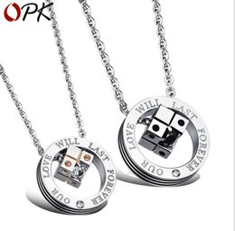 Necklaces Pendants Australia - Korean version jewelry cube pendant love cube titanium steel couple necklace