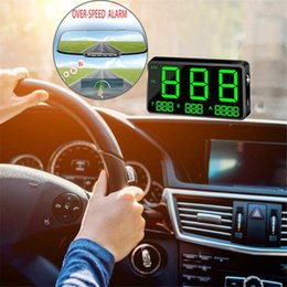universal bikes NZ - Universal C80 Digital Car GPS Speedometer Speed Display KM h MPH For Bikes Motorcycles USB Plug Play Overspeed Warning