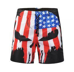 4b02145123 Free Shipping Summer Swimsuit American Flag Men'S Beach Shorts Explosion Men'S  Swimming Trunks Street Beach Pants Men'S Swimwear