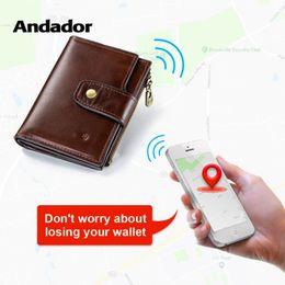 $enCountryForm.capitalKeyWord Australia - Genuine Leather Men Wallet Rfid Bluetooth Alarm Smart Men Purse With Alarm GPS Map Brand Design Wallets Short Coin Purse Zipper #124625