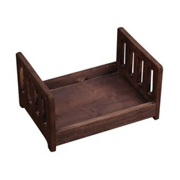 Photos babies online shopping - Baby Wooden Bed Gift Photo Prop Posing Portable Durable Photography Shotting JHP Best