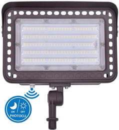 daylight flood lights NZ - LED Flood Light 60W 100W with 180°Adjustable Knuckle Mount Photocell Dusk to Dawn Outdoor LED Lighting Daylight White 5000K for Garden