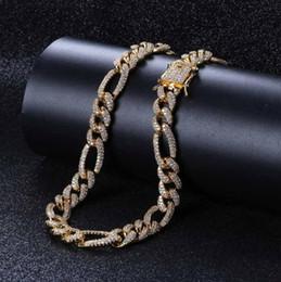 $enCountryForm.capitalKeyWord Australia - 10MM High Quality Chain Cuban Chain Micro Zircon Men's Hip Hop Necklace 18inch 22inch