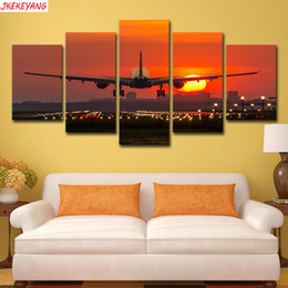 $enCountryForm.capitalKeyWord Australia - Full Square Round Drill 5D DIY diamond painting 5pc Sunset plane Pictures mosaic Diamond Embroidery J2230