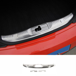 car bumper protector stainless steel UK - For Ford Mustang 2015 2016 2017 Stainless Steel Inner Rear Bumper Protector Guard Plate Trim 3pcs Car Styling Accessories