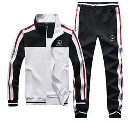 Wholesale men slim fit tracksuit resale online – Hot New Fashion Men Tracksuit Set Hoodies Sweatshirt Slim Fit Pants Jogger Sportswear Suit
