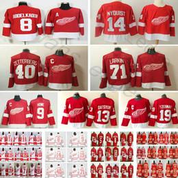 New Detroit Red Wings Hockey  9 Gordie Howe Pavel Datsyuk 14 Gustav Nyquist  19 Steve Yzerman 40 Henrik Zetterberg 71 Dylan Larkin Jersey d2bb652ec