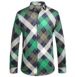 Nuevo Camisa Checker de hombre, Camisa de manga larga, Ocio de negocios ampliado Marca de alta calidad, Clásico, Cómodo, Clásico, Ropa de ocio