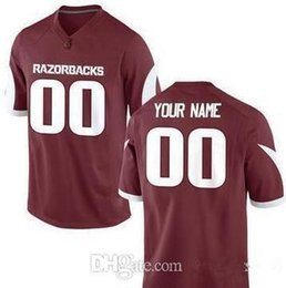 Football Numbers Australia - Custom Arkansas Razorbacks College Football Limited Marroon Red White Personalized Stitched Any Name Any Number #8 #72 Jerseys XS-5XL