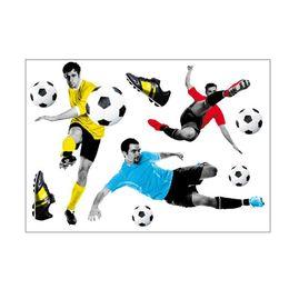 $enCountryForm.capitalKeyWord Australia - 3D Football World Cup Basketball Fire Creative Ball Home Wall Stickers for Living Room Bedroom Home Decoration Wallpaper