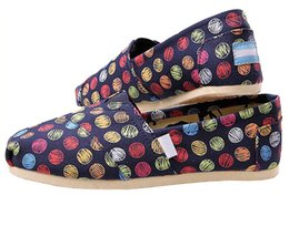 Tom balls online shopping - in stock Colorful Dots Balls TOM Sneakers Slip On Casual Lazy Shoes for Women and Men Fashion Canvas Loafers Flats Classics Designer Shoes