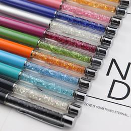 $enCountryForm.capitalKeyWord UK - Mutlti Function Metral Touch Pen Luxury Diamond Crystal 2 in 1 Touch Screen Rhinestones Capacitive Stylus Ball Pen Free DHL 003