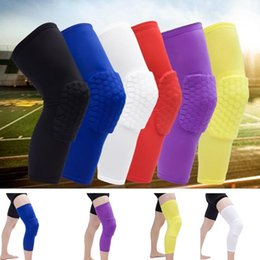 pro pad black Australia - New Fashion Anti-collision breathable PRO honeycomb knee basketball knee pads Professional outdoor sports knee pads T8H002