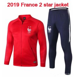 Soccer Jogging Suits NZ - 2019 jerseys football jogging Equipe de france new long sleeve soccer tracksuit training track suit 2019 French two-star jacketMulti color