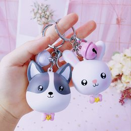 Chinese  Cute Silicone Cartoon Doll Creative Mini Cartoon Measuring Clothes Ruler Measuring Tape Portable Small Bell Keychain manufacturers
