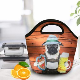 Types fabric maTerials online shopping - Panda Lunch Box Bag Thermal Insulation Collapsible Cartoon Wrap Twill Diving Material Package High Capacity Portable Handbag New jsb1