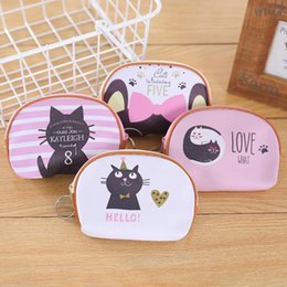 $enCountryForm.capitalKeyWord Australia - Cute Cartoon Animal Cat PU Leather Coin Purses Girl Kid Holder Women Mini Change Wallets Money Storage Bag Children Zipper Pouch