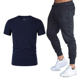 Discount cool club clothes - Fashion Cool T shirt+Pants Suit Mens Streetwear fans club T-shirt Sets Gyms Brand Clothing men casual short sleeves cott