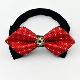 Fashion Crystal Tie Australia - Fashion Men's adjustable Shinning Rhinestone Luxurious Neck crystal Bow Ties Shows Party Bowtie wedding accessories