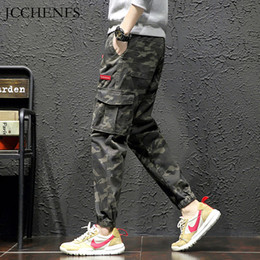 Hip Hop Pants Brands NZ - JCCHENFS 2019 New Arrival Casual Pants Men Camouflage Cargo Pants Elastic Waist Jogger Multi-pocket Brand men's Hip hop