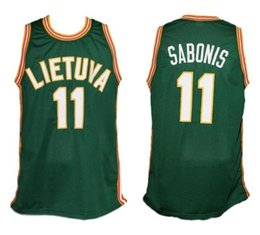 11 Arvydas Sabonis Team Lietuva Lithuania Retro Classic Basketball Jersey  Mens Stitched Custom Number and name Jerseys 64b817e6b